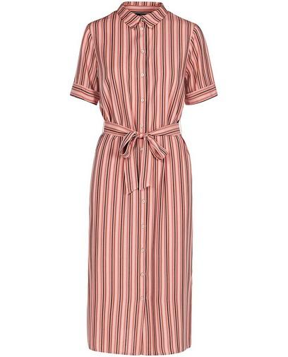 Roze jurk met strepenprint Sora