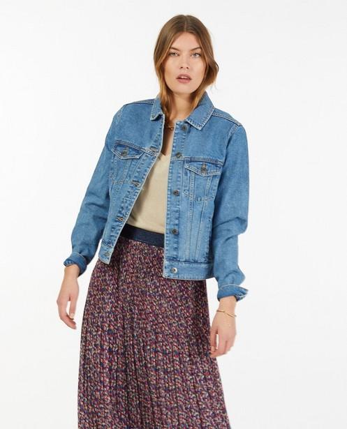 Blauwe jeansjas Sora - met deelnaden - Sora