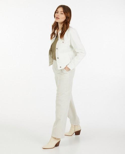 Veste blanche en jeans Sora - boutonnée - Sora