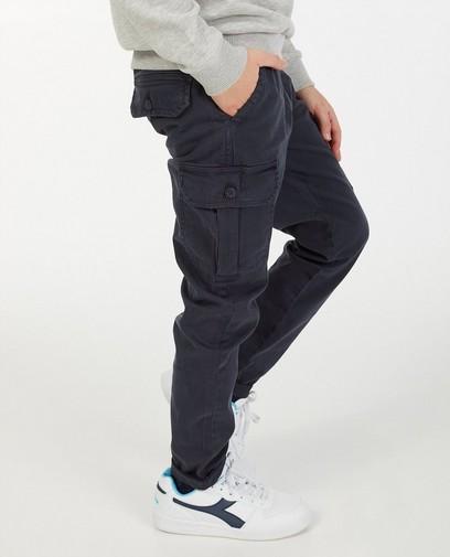 Blauwe slim broek Simon, 7-14 jaar