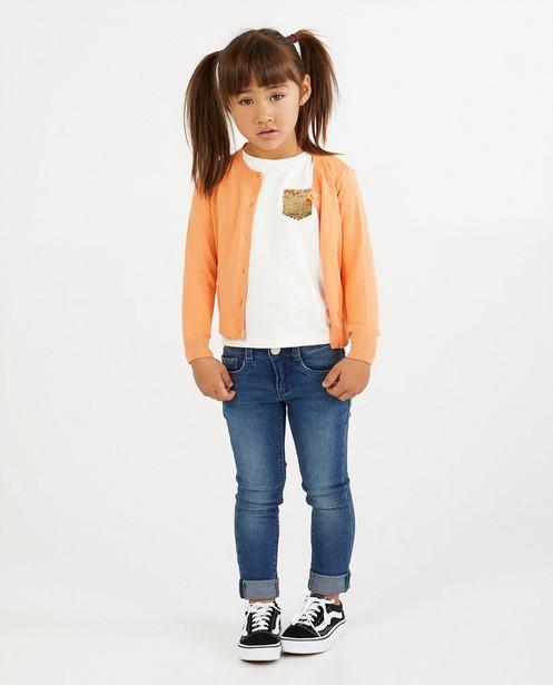 Oranje cardigan met glitter BESTies - van fijne brei - Besties