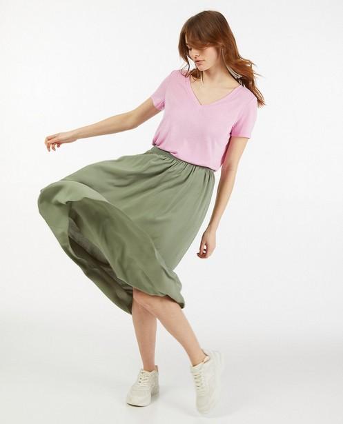 Groene rok van Lenzing™ EcoVero™ - met elastische taille - Sora