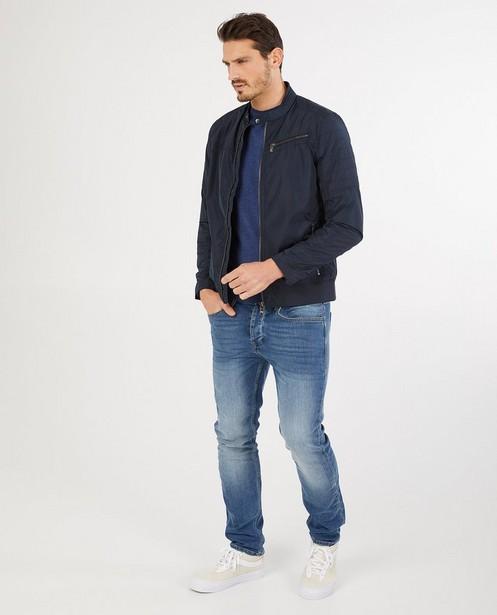 Blauwe jas - met ritssluiting - Iveo