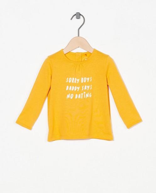 T-shirt à manches longues avec inscription BESTies - et orné de paillettes - Besties