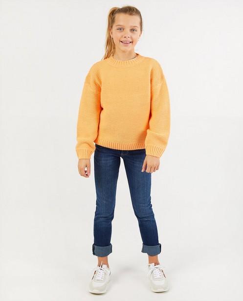 Oranje trui BESTies - gebreid - Besties