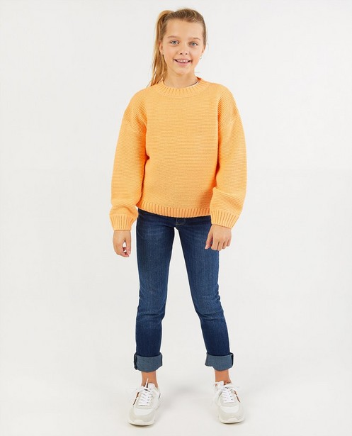 Pull orange BESTies - en tricot - Besties