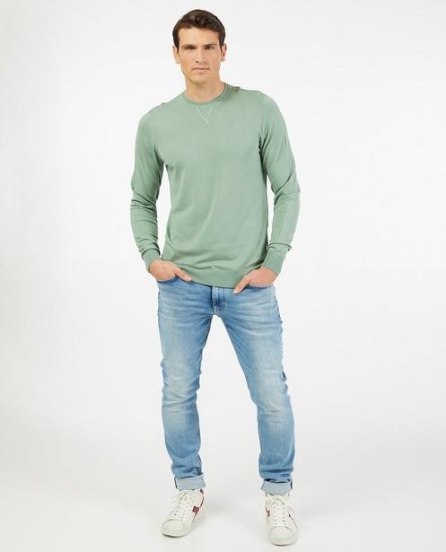 Pull vert pâle - en fin tricot - Iveo