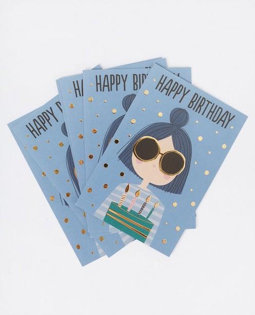 6 cartes d'anniversaire Studio Loco - bleu - JBC