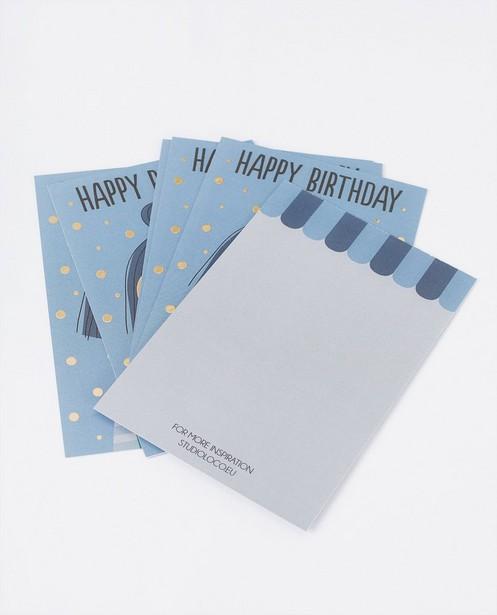 Gadgets - 6 cartes d'anniversaire Studio Loco