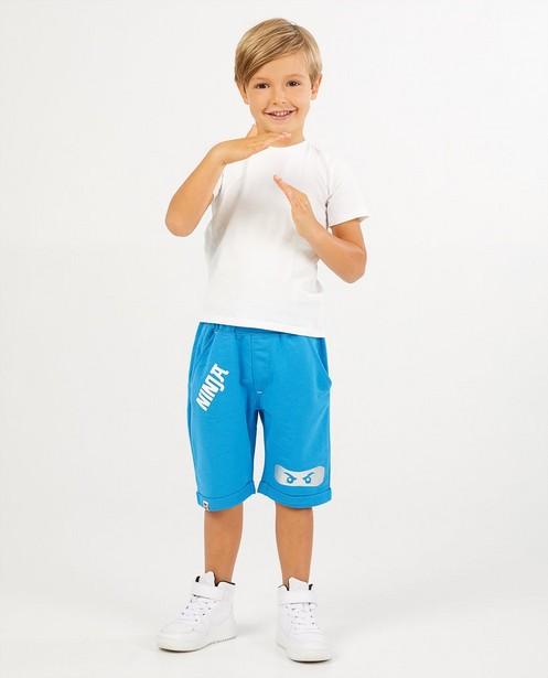 Blauwe sweatpants van Ninja Lego - met print - JBC
