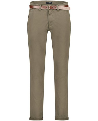 Groene slim fit chino Matthew