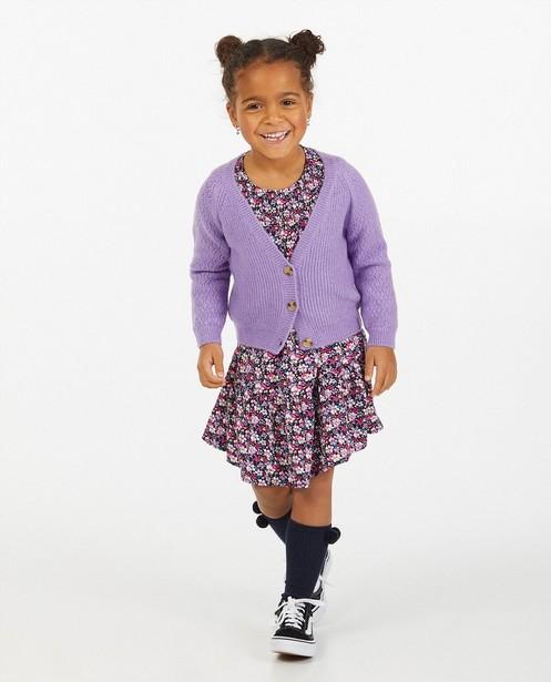 Cardigan lilas à paillettes - fin tricot - Milla Star