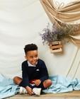 Donkerblauwe trui Communie - van fijne brei - Kidz Nation