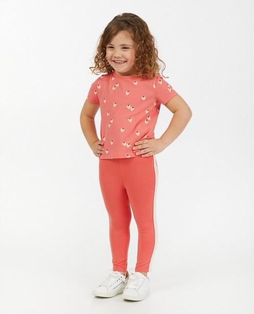 Roze legging met streep BESTies - in lichtroze - Besties