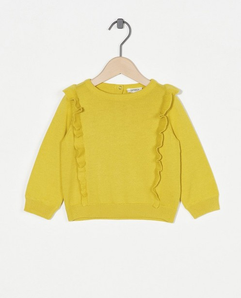 Pull jaune avec des ruches - en fin tricot - Cuddles and Smiles