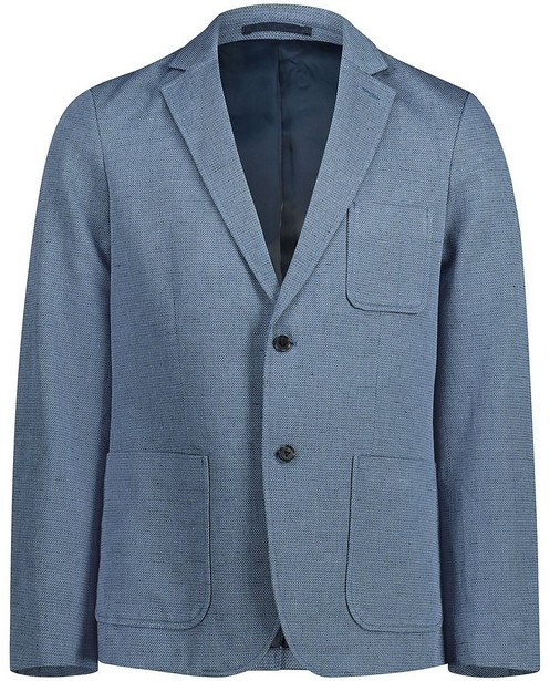 Blauwe blazer - allover - Iveo