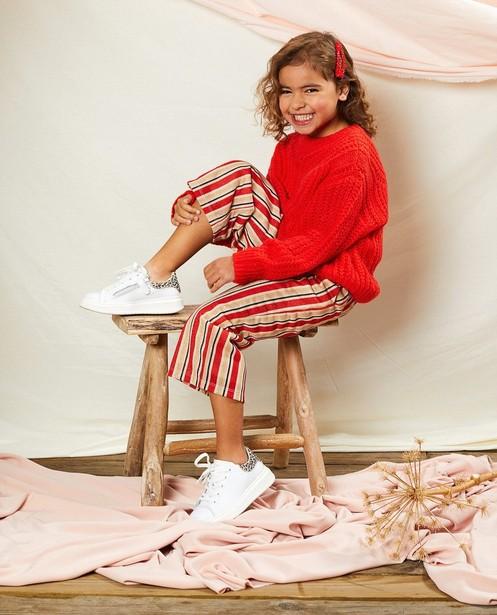 Pull rouge Communion - en tricot - Milla Star