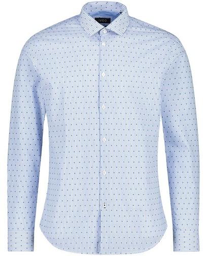 Lichtblauw hemd met strepen