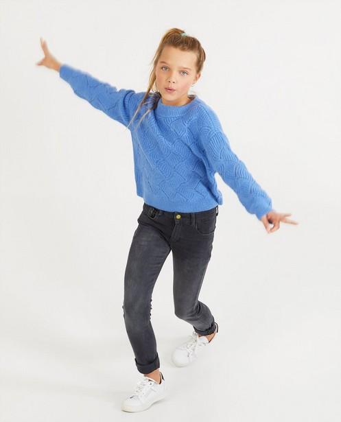 Pull bleu en tricot - à motif - Fish & Chips
