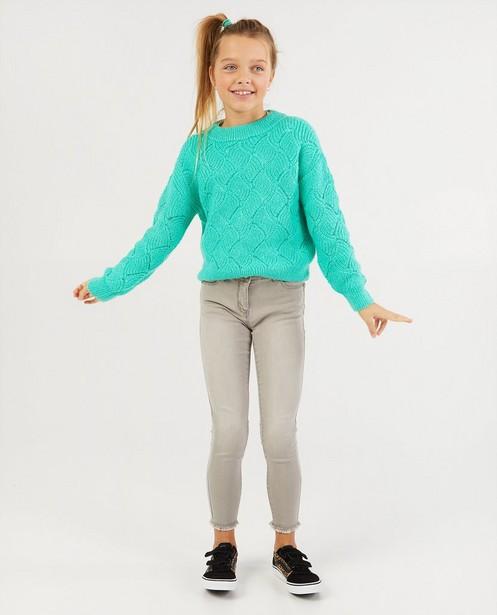 Pull vert en tricot - à motif - Fish & Chips