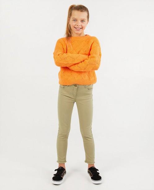 Pull orange en tricot - à motif - Fish & Chips