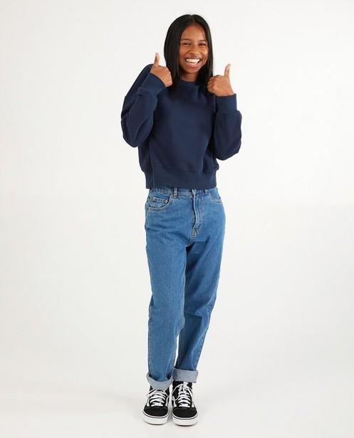 Donkerblauwe unisex sweater tieners - Kampsweater - JBC