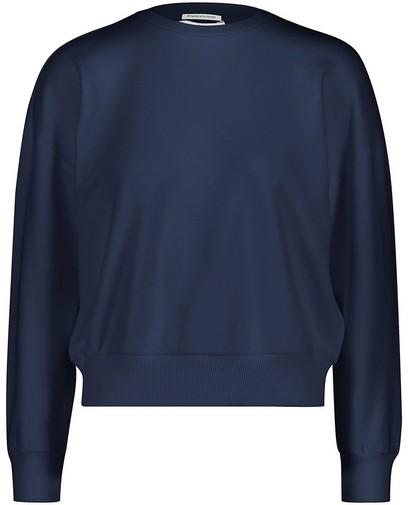 Donkerblauwe unisex sweater tieners