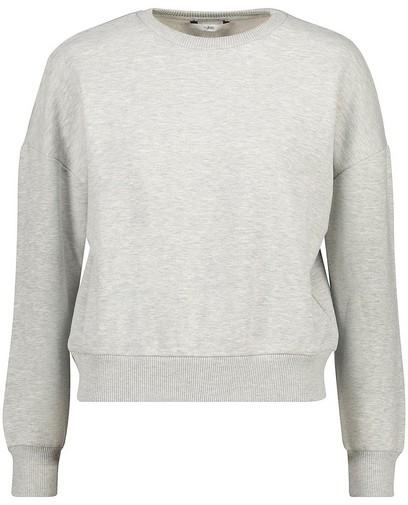 Lichtgrijze unisex sweater tieners