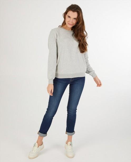 Lichtgrijze sweater dames - kampsweater - JBC