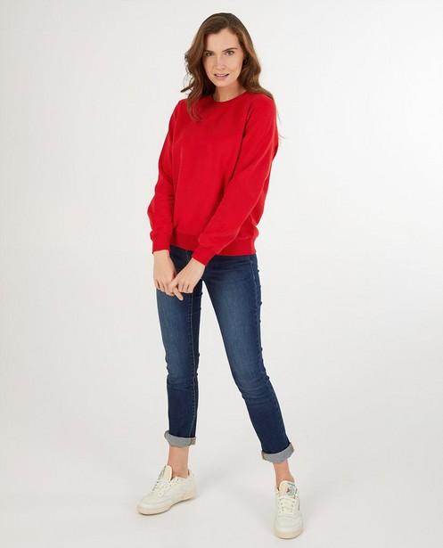 Rode sweater dames - kampsweater - JBC
