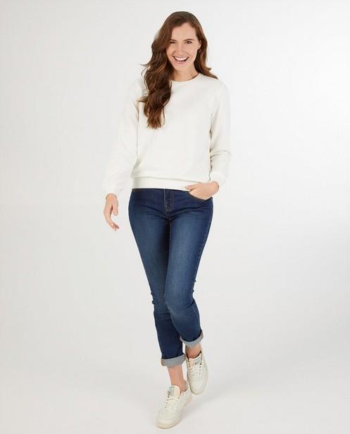 Witte sweater dames - kampsweater - JBC