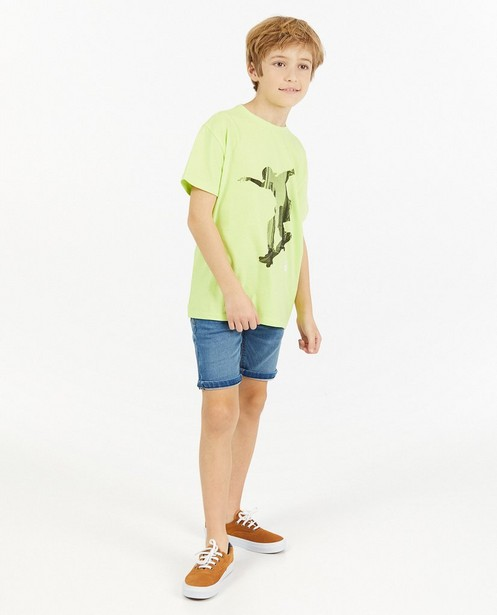 Geelgroen T-shirt met print - jersey - JBC