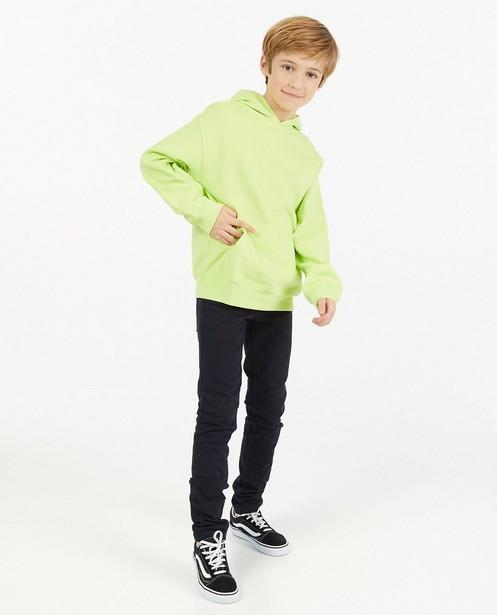Geelgroene hoodie - met print - JBC