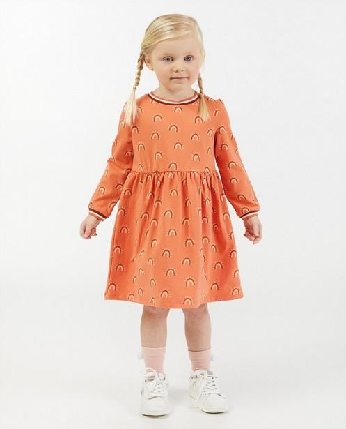 Robe orange à imprimé d'arcs-en-ciel - imprimé intégral - Milla Star