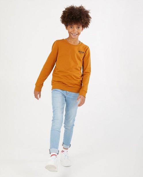 Sweater met opschrift BESTies - op borst en rug - Besties