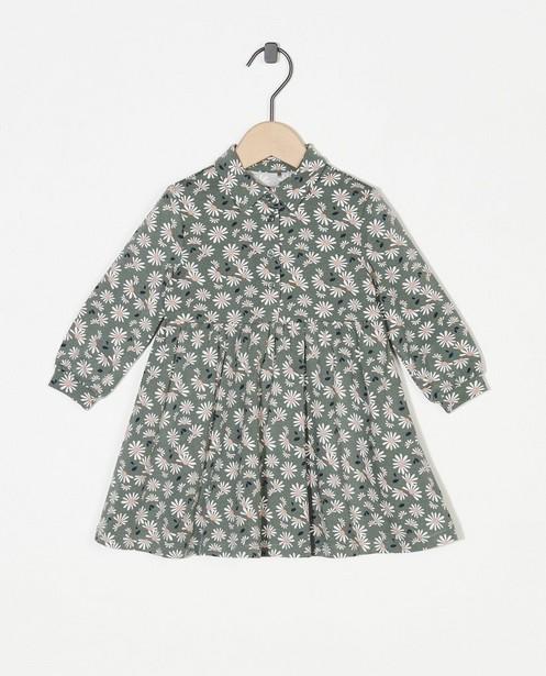 Robe verte à imprimé fleuri - imprimé intégral - Cuddles and Smiles