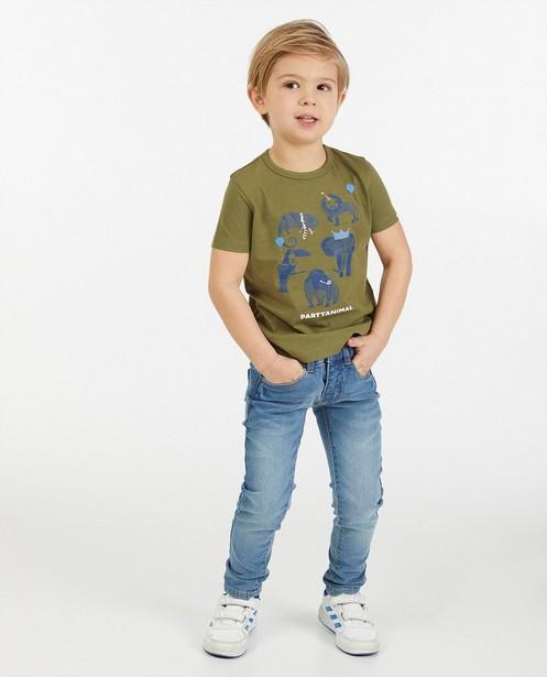 Groen T-shirt met print AVA x JBC - stretch - Kidz Nation