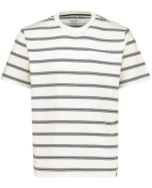 T-shirt rayé en coton bio - fin tricot - Quarterback