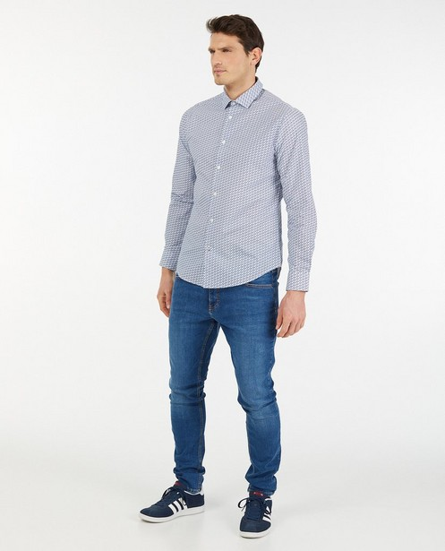 Chemise bleue à imprimé - imprimé intégral - Iveo