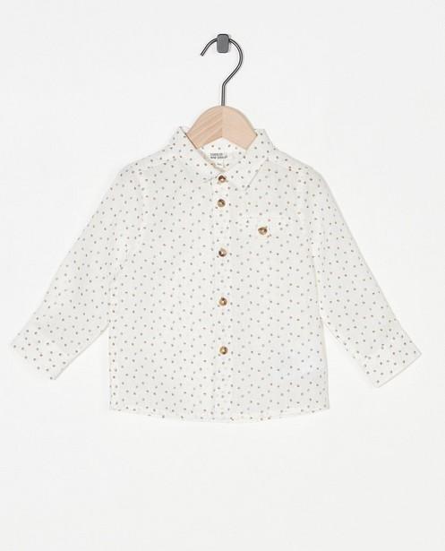 Offwhite hemd met stippen Feest - allover - Cuddles and Smiles