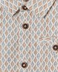 Hemden - Offwhite hemd met print Feest
