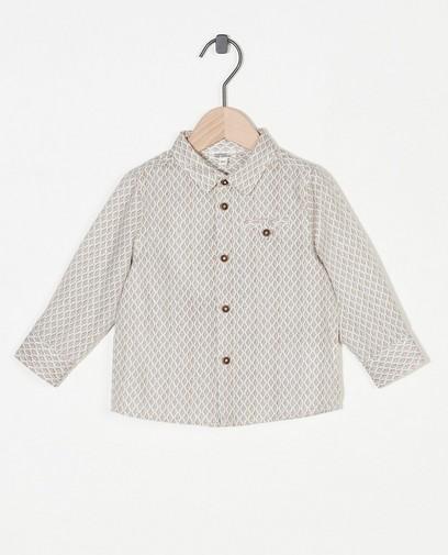 Offwhite hemd met print Feest