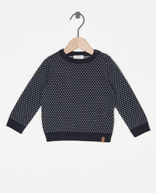 Pull bleu en coton bio Fête - premium - Cuddles and Smiles