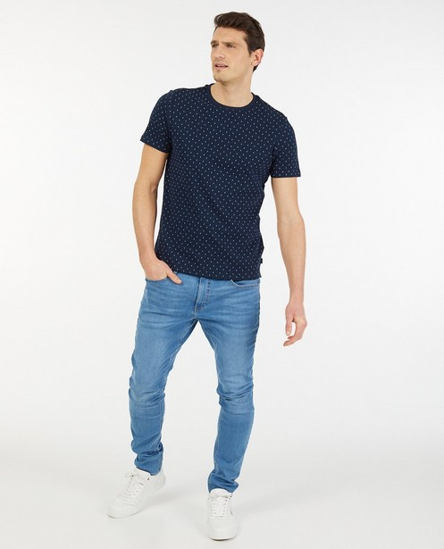 Blauw T-shirt met print - regular fit - Iveo
