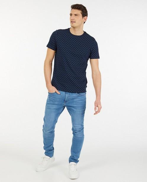 T-shirt bleu à imprimé - regular fit - Iveo