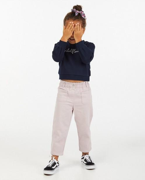 Blauwe sweater met opschrift - wildflower - Milla Star