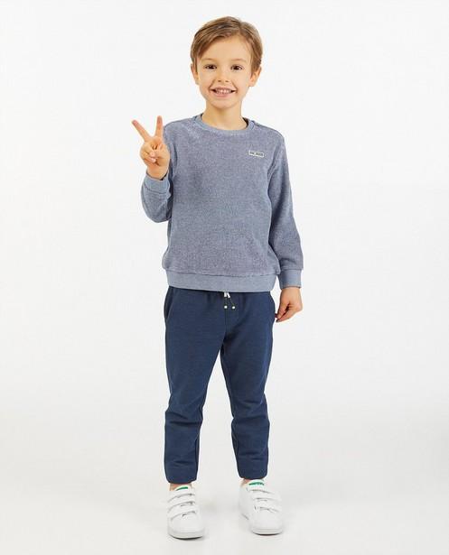 Blauwe sweater met streepjes - spons - Kidz Nation
