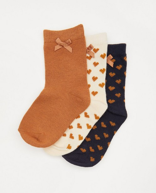 Lot de 3 paires de chaussettes pour bébés - brunes, beiges et bleues - Cuddles and Smiles