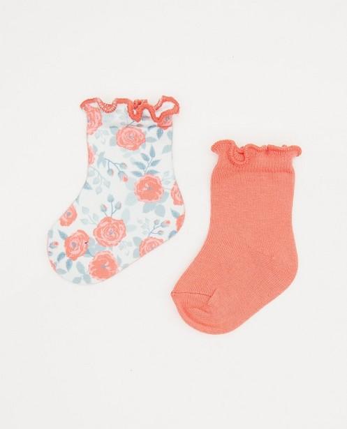 Ensemble de 2 paires de chaussettes pour bébés - avec des ruches - Newborn