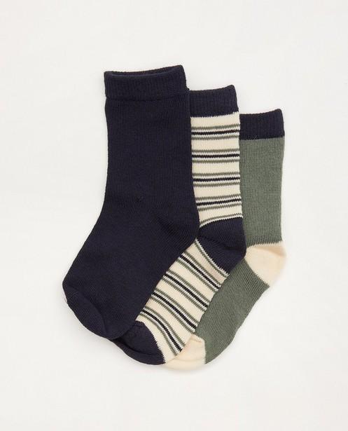 Lot de 3 paires de chaussettes pour bébés bleues - et vertes - Cuddles and Smiles